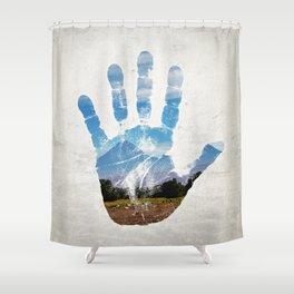 Earth Print Shower Curtain