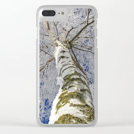 Snow worlds Clear iPhone Case