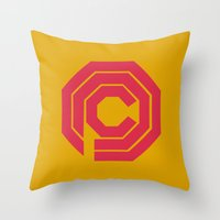 robocop Throw Pillows featuring Robocop by FilmsQuiz
