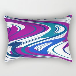 Modern wave Design pink - purple -white Rectangular Pillow