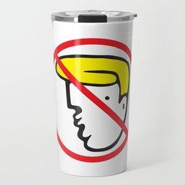 NO TRUMP Protest Art Travel Mug