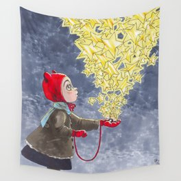 Stars are golden Wall Tapestry