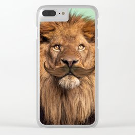 BEARDED LION Clear iPhone Case