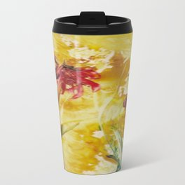 Abstract Red Poppies From Original Encaustic Art Travel Mug