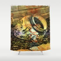 cracked Shower Curtains featuring Cracked by BeachStudio