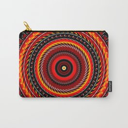 On Fire Spiral Art Design Carry-All Pouch