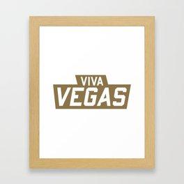 Viva Vegas Framed Art Print