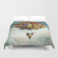 dreams Duvet Covers featuring Fly Away by Christian Schloe