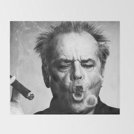 Jack Nicholson Cigar Throw Blanket