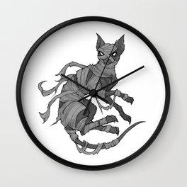 Inktober Cat Mummy Wall Clock