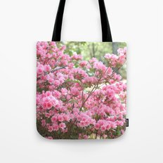 Spring Pink Blossoms Trees Nature Print - Pink Spring Trees Blossoms Tote Bag
