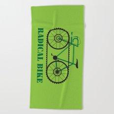 Radical bike Beach Towel