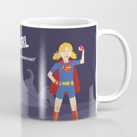 supergirl Mugs featuring What Part of Supergirl Didn't You Understand? by jordannwitt