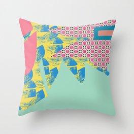 Textured break Throw Pillow
