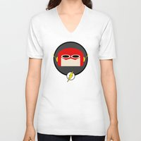 the flash V-neck T-shirts featuring Flash by Oblivion Creative