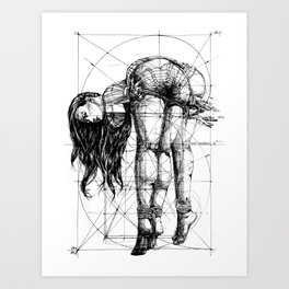 Lady on Table. Workbench. Yury Fadeev. Art Print