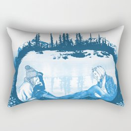 Winter Dreams Artwork Rectangular Pillow