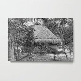 Mexico Hut sketched Metal Print