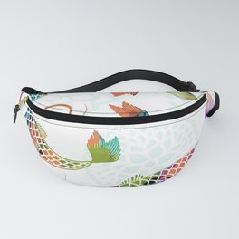 Koi - White Stream Fanny Pack