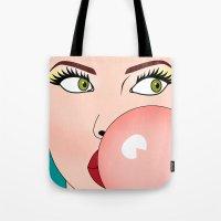 cartoon Tote Bags featuring cartoon  by mark ashkenazi