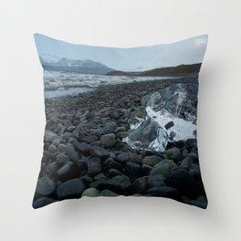 Ice on the Beach- Iceland Throw Pillow