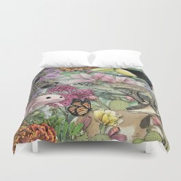 Flora and Fauna of Mexico Duvet Cover