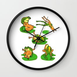 """Funny Adult Humor Shirt For Adults """"Frog"""" Reptile Lake Water Lily T-shirt Design Naughty Fuck Sex Wall Clock"""