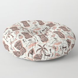 Tropical Tiki - Cream Pink Floor Pillow