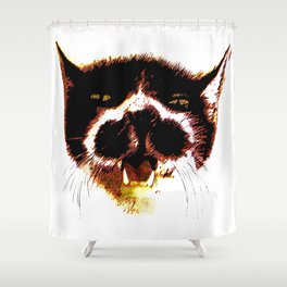 The philosopher and free cat Shower Curtain