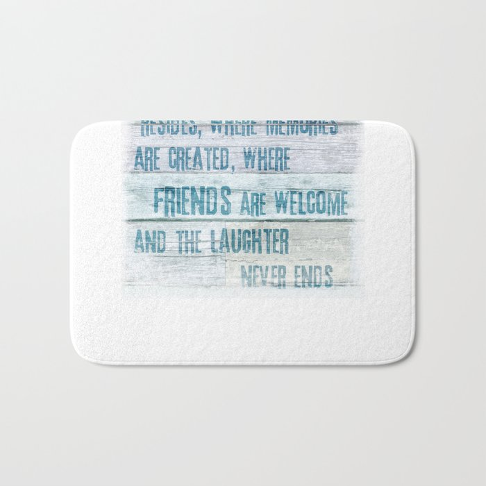 Home of Love and Laughter Bath Mat