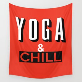 Yoga & Chill Wall Tapestry