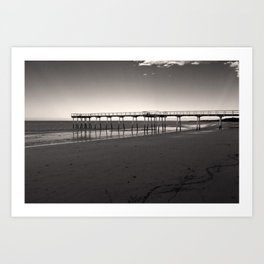 Way to sea Art Print