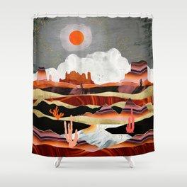 Coral Desert Lake Shower Curtain