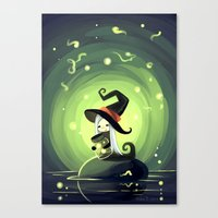 fireflies Canvas Prints featuring Fireflies by Freeminds