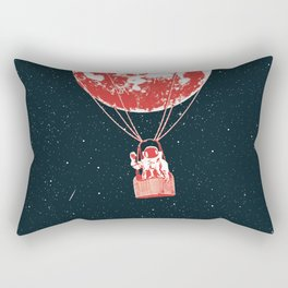 space moon balloon Astronaut Rectangular Pillow
