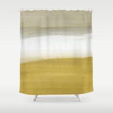 Horizon Gold Shower Curtain