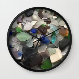 Sea Glass Assortment 1 Wall Clock