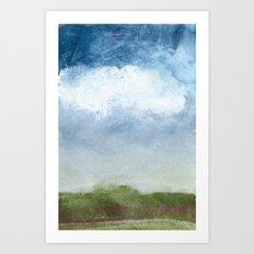 Foggy Bluff Art Print
