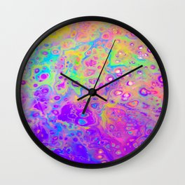 Rainbow Psychedelic Bubbles Wall Clock
