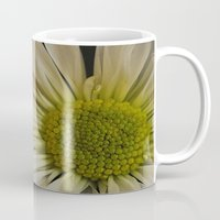pushing daisies Mugs featuring Pushing Dasies by Rachel Quinn