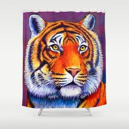 Colorful Bengal Tiger Portrait Shower Curtain