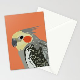 Marcus the cockatiel Stationery Cards