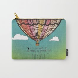 Life Expands quote Carry-All Pouch