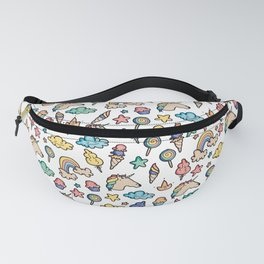 The colorful universe of Unicorns Fanny Pack