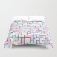 Kawaii Tetris Duvet Cover