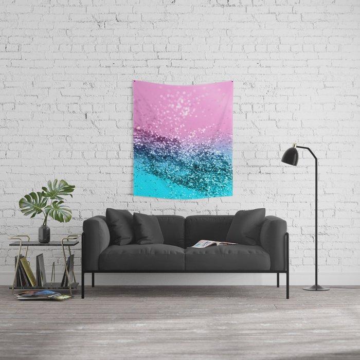 Tropical Beach Lady Glitter #1 #shiny #decor #art #society6 Wall Tapestry