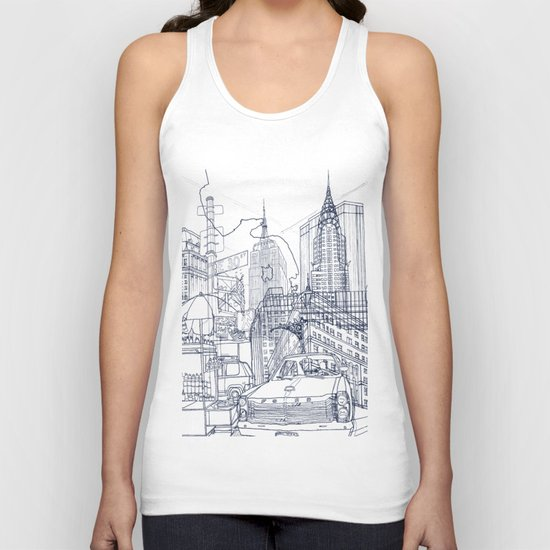 New York! Unisex Tank Top