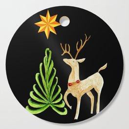 Deer near a tree, gazing at a star Cutting Board