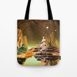 The mysterious underwater cave Tote Bag