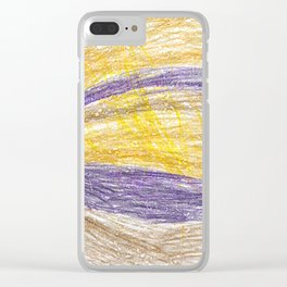 Sunset Lightroom Colored Pencils Clear iPhone Case